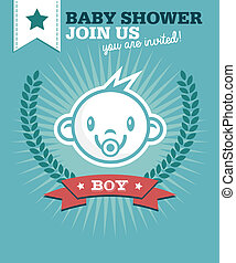 Baby Boy Shower Invitation