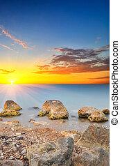 Seascape - Beautiful seascape. Composition of nature.