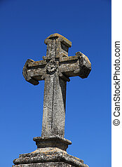 Cross ornament at a French cemetary