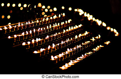 candle light in a church - Candle light in a church