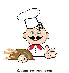 Cook with bread.
