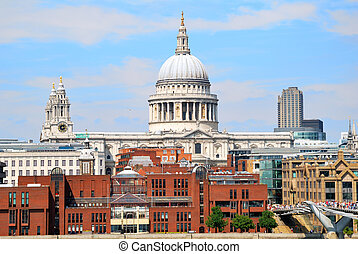 Saint Pauls Cathedral with blue sky