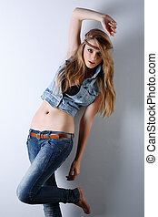 A photo of beautiful girl is in style of pinup,vintag