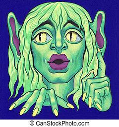 Green goblin - Green Goblin - original acrylic painted...
