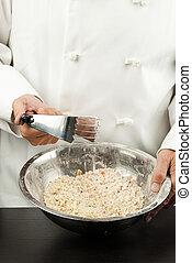 Pastry Chef Prepares Crust