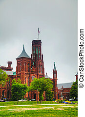 Smithsonian Institution Building (the Castle) in Washington,...