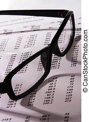 Financial Statement - A Financial statement with a black...