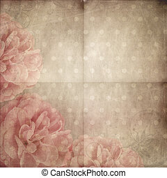 Paper background with Beautiful pink rose