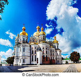 Kiev Pechersk Lavra monastery in Kiev, Ukraine in the...