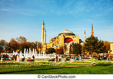Hagia Sophia in Istanbul, Turkey in the morning