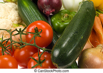 vegetables background - close-up of fresh vegetables for...