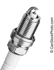 Spark plug for the car, isolated on a white background