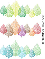 colorful leaves, vector set - colorful autumn and spring...