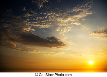sunrise over ocean. Nature composition.