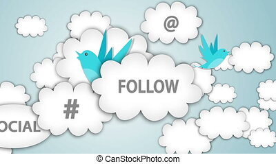 Like, Follow, Join us !  motion graphic