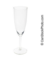 champagne flute - Empty champagne flute isolated on a white...