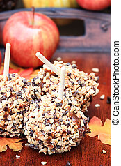 Delicious Chocolate Chip Carmel Apples