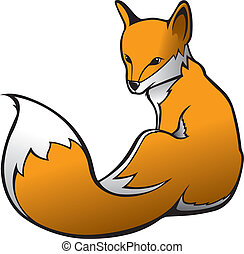 Red Fox - Illustration of a Red Fox Vector File