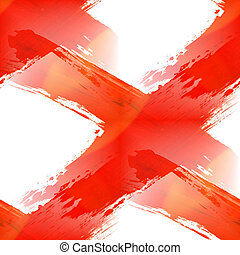 glare from paint cross mark ink stroke dye red brush textu -...