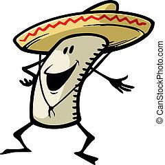 Happy Burrito - A cartoon of a smiling burrito. Vector file.