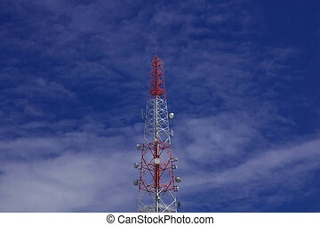 Transmission towers - Cell phone transmission tower with...