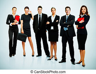 Business people team - Group of business people. Business...