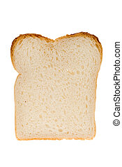 slice of white bread isolated on a white background
