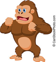 Gorilla cartoon - Vector illustration of Gorilla cartoon