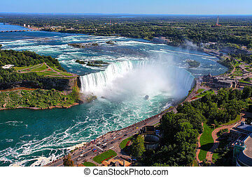 Niagara Falls - The view of the Horseshoe Fall, Niagara...