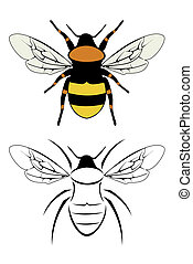 bumble bee - A set of two bumble bees