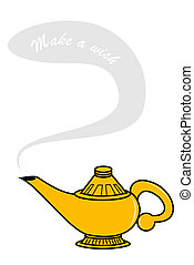 Genie Lamp - Make a wish genie lamp
