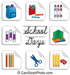 School Days Stickers - School days stickers for back to...
