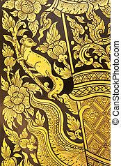 Thai style painting art.