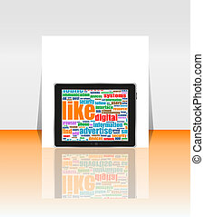 Cloud-computing connection on digital tablet pc