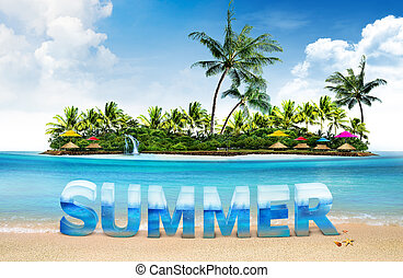 summer holiday background and islan