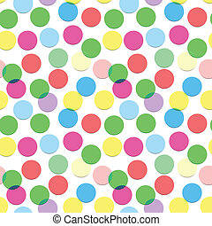 Seamless confetti pattern in candy colors - Confetti pattern...