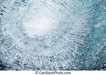 bulletproof glass after test