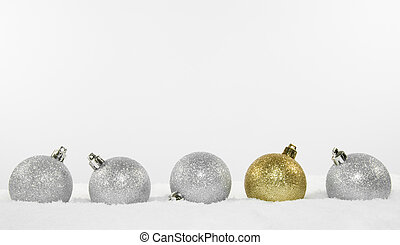 Christmas Tree Decorations In Snow