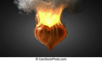 burning heart Alpha matted