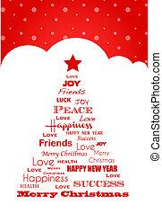 wish tree; christmas card - wishes for christmas; christmas...
