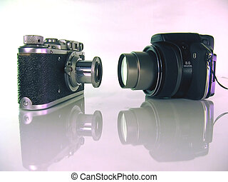 Old film and digital photo cameras - Film cameras last epoch...