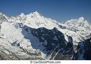 Gran Paradiso (4061m) in Aosta valley, Italy Alps
