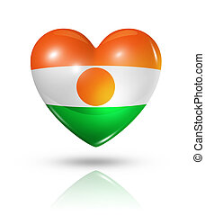 Love Niger, heart flag icon