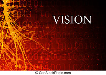 Vision Abstract Background in Red and Black