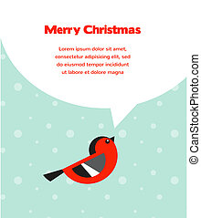 Christmas background with bird speech bubbles