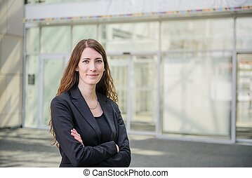 Business woman - outdoor portrait