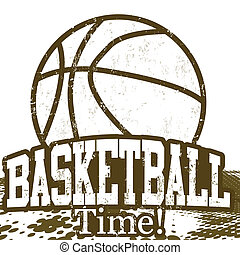 Basketball Time poster - Basketball Time grunge poster on...