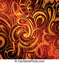 Abstract background with fire flame