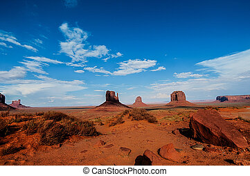 National park monument valley auth and arizona USA -...