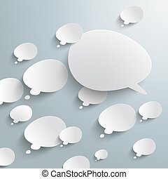 Bevel Speech And Thought Bubbles Opposing View - Infographic...